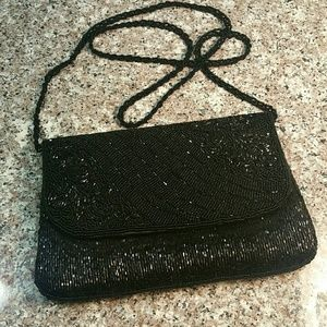 La Regale Beaded Crossbody Purse